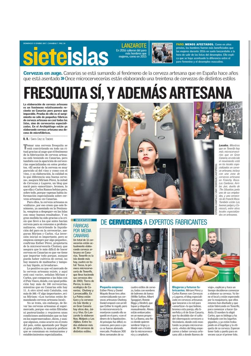 Reportaje completo publicado en Canarias7